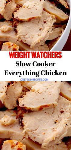 Slow cooker everything chicken weightwatchers weight_watchers chicken slowcooker recipes smartpoints incredible slow cooker baby back ribs Weight Watchers Diet, Weight Watcher Dinners, Weight Watchers Chicken, Weight Watchers Frozen Meals, Ww Recipes, Gourmet Recipes, Low Carb Recipes, Cooking Recipes, Recipies