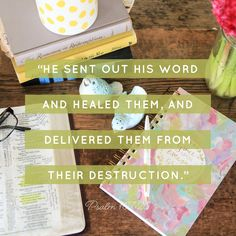 The Word of God can heal and restore!