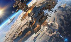 Space station, Sviatoslav Gerasimchuk on ArtStation at https://www.artstation.com/artwork/rZdz6