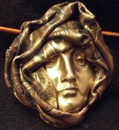 Copper/Bronze/Steel Metal Clay Face - Art Jewelry Magazine ...