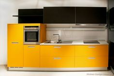 #Kitchen Idea of the Day: Modern yellow and black kitchen