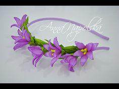 Весняний обруч з магноліями канзаши. Весенний ободок с магнолиями. Magnolias headband kanzashi - YouTube