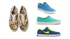 Bright sneakers are a must for students of any age. Play up patterns for a pop of color!