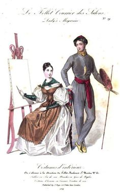 Lady's Magazine, 1834. - She has wrist protectors to protect her sleeves. :-)