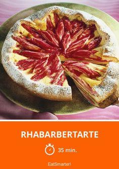 Rhabarbertarte - mittel - Eine Rezeptidee von EAT SMARTER   Kuchen, Tarte, Rhabarber-Tarte, Rhabarbertorte, Frühlingsgemüse, Frühlingskuchen, Osterrezepte, Osterkuchen, Muttertag, Rhabarber-Dessert #rhabarberkuchen #rezepte