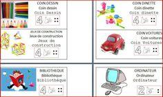 La signalétique de coins jeux Free Frames, Petite Section, Kindergarten, Monsieur Madame, Blog, Coins, Document, Ps, Respect