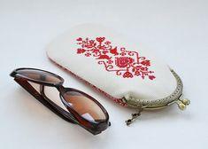 Glasses case Eyeglass case eyeglass holder etui cross