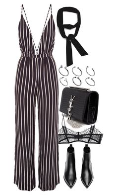 """""""Untitled #7980"""" by nikka-phillips ❤ liked on Polyvore featuring Yves Saint Laurent, Maison Close, Faithfull the Brand, Acne Studios, Zara and ASOS"""