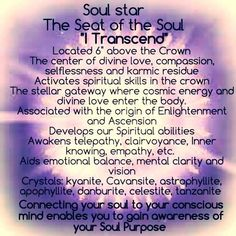 Soul Star Chakra connection between our past lives, soul purpose and our infinite nature.