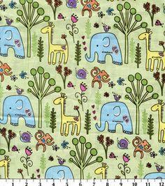 Nursery Fabric-Jungle Garden Animals: fabric: Shop | Joann.com