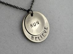 Hey, I found this really awesome Etsy listing at https://www.etsy.com/ru/listing/90840816/running-jewelry-believe-in-your-run