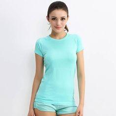 Fast Drying Short Sleeve Women Gym Shirt - FitShopPro