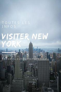 Préparer son voyage à New York - Travel Sleep and Repeat Ville New York, Voyage New York, Nyc, New York Travel, Guide, Voici, New York Skyline, Road Trip, Articles