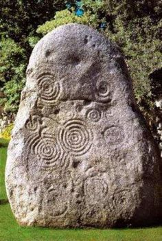 Marvelous standing stone from late neolithic Sardinia. The concentric circles could have many meanings.
