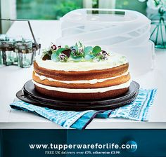 Keep your home-baked cakes fresh, safe from accidental damage, take them with you outside with the Tupperware Collapsible Cake Taker. it can accommodate the tallest of layer cakes.  Shop online at >>   #cakes  #cakedecorating #sweettooth  #weddingcake #cupcakes #cakedecorating #eeeeeats #eatthis #seriouseats #foodpornshare #canberracakes #birthdayc…