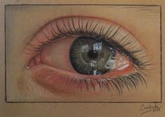 Colored Pencil Drawing on Tinted Brown Paper by Christina K.