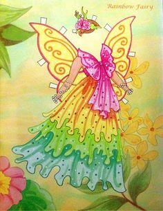 Fairy Paper Doll By Eileen Rudisill Miller: Rainbow Fairy