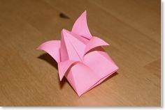 Bouton de lotus   Japonais, Traditionnel, Végétaux, Difficulté: ★, Animé/Gonflable   Senbazuru – せんばづる