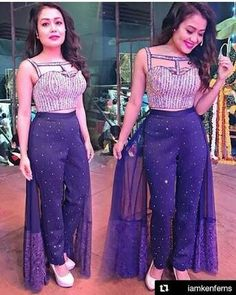 Designer Party Wear Dresses, Kurti Designs Party Wear, Indian Designer Outfits, Dresses For Teens, Stylish Dresses, Fashion Dresses, Stylish Dress Designs, Designs For Dresses, Neha Kakkar Dresses