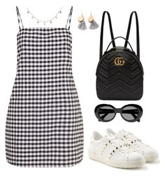 """Untitled #2337"" by andreagm ❤ liked on Polyvore featuring Gucci, Valentino, Acne Studios and Luna Skye"