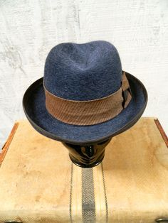 Mens Hand Blocked Homburg Hat. $200.00, via Etsy.