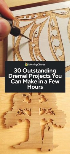 30 Outstanding Dremel Projects You Can Make in a Few Hours There are many Dremel projects to be done from start to finish in just a few hours. These crafts are fun and allow you to use your Dremel in many ways. Dremel Tool Projects, Easy Woodworking Projects, Woodworking Wood, Diy Wood Projects, Woodworking Machinery, Woodworking Classes, Woodworking Equipment, Woodworking Patterns, Woodworking Magazine