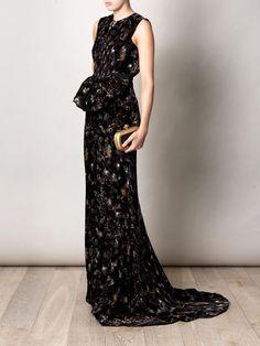 BOTTEGA VENETA  Faded flower velvet dress