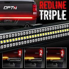 60 Tailgate Silverrado Led Bar Sequential Turn Signal Back Up Brake Light Amber Led Tailgate Light Bar Custom Trucks Custom Truck Parts