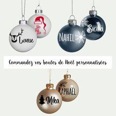 Gros lot de 4 Personnalisé Arbre de Noël Suspendu boules Votre Photo Imprimé Cadeau