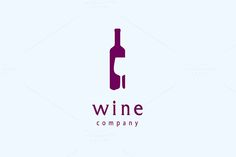 Wine Logo Vector by Typo Logo Design, Typography Logo, Winery Logo, Wine Tattoo, Lab Logo, Wine Design, Logo Restaurant, Logo Food, Creative Logo