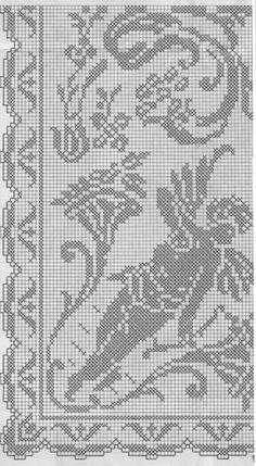 Cкатерть-с-амурами крючок схема 1 Stitch 2, Cross Stitch, Fillet Crochet, 1 Gif, Bed Spreads, Diy And Crafts, Crochet Patterns, Embroidery, Rugs