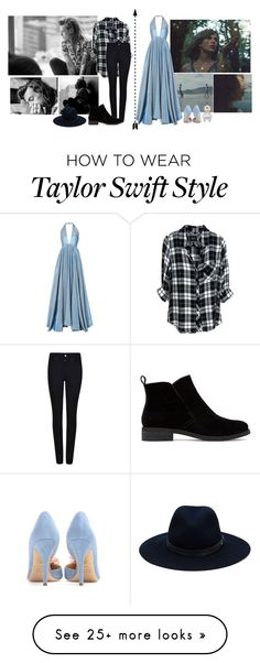 """if you're looking for someone to write your breakup songs about  »« are we out of the woods? Are we in the clear yet?"" by style-and-chic-boutique on Polyvore featuring Rosie Assoulin, Rails, Giorgio Armani, rag & bone, Lucky Brand, Charlotte Olympia and Marc Jacobs"