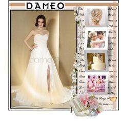 Wedding dress: http://www.dameo.de/prinzessin-birne-herz-ausschnitt-satin-organza-rechteck-volle-laenge-brautkleid-p290207012.html  Shoes: http://www.dameo.de/d542/peep-toe-arbeiten-spitze-braut-pumps-p290232775.html