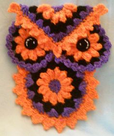 Check out this item in my Etsy shop https://www.etsy.com/listing/252924214/crochet-owl-halloween-potholderhotpad