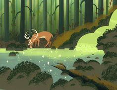 Samurai Jack - Back ground artwork by Bill ray - http://madaboutcartoons.blogspot.co.uk/