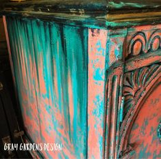 Funky Painted Furniture, Paint Furniture, Shabby Chic Furniture, Furniture Makeover, Restoring Furniture, Upcycled Furniture, Unique Furniture, Sideboard Furniture, Painted Sideboard