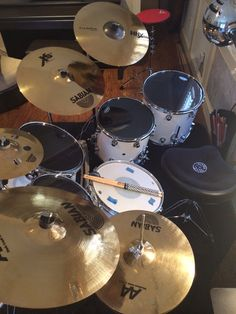 Michelle Sandlin's DW Performance Series drum kit with Sabian Cymbals
