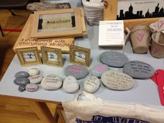 Stones with variety of sayings