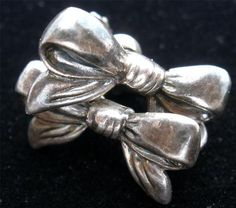 Vintage Sterling Silver Bow Earrings Screwback Handmade Hallmarked Mexico | eBay