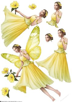 Forest Fairy Ophelia stands amongest the flowers. Decoupage sheet version with loads of options to create your own Ophelia cards. Don't forget to check out all my other original designs and Dudes, Just click on my name. Ophelia is available in twelve different colours. Thanks for looking!