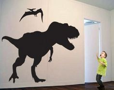 T-Rex Dinosaur Wall Art Sticker/Decal by OurEndlessCreations