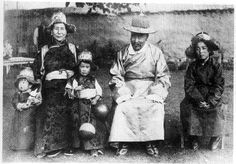 Dalai Lama as a child, with his family