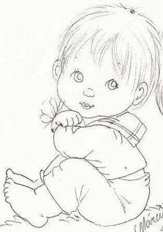 riscos de bebes marinheiro para pintura em tecido | Menino | Meninos | Pinterest