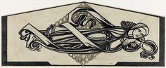 Liggende figuur voor een ornamentale ruit, Richard Roland Holst, 1915