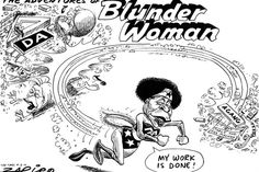 Zapiro: Mamphela Ramphele and the DAgang split - Blunder Woman indeed! Politics, Rocks, Cartoons, Fictional Characters, Image, Woman, Cartoon, Cartoon Movies, Women