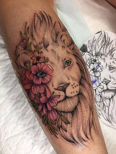Tattoo Zabityy Kot - tattoo's photo In the style Graphics, Dotwork, Female, Lions, Flowe Dope Tattoos, Hand Tattoos, Leo Tattoos, Dream Tattoos, Pretty Tattoos, Unique Tattoos, Beautiful Tattoos, Body Art Tattoos, Small Tattoos