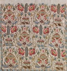 An embroidered textile, late-Ottoman, 19th century.