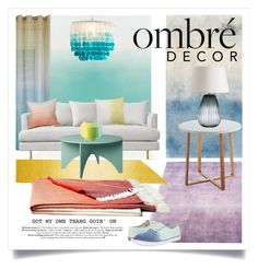 """Ombré Decor"" by ivansyd ❤ liked on Polyvore featuring interior, interiors, interior design, home, home decor, interior decorating, Designers Guild, Liora Manné, Bluebellgray and DENY Designs"