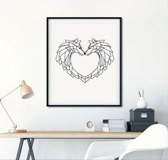 Have you seen my wolf-love wall decor? 😉 Link in BIO!  #wallpaper #wallart #walldecor #art #minimal #origamiart #origamidecor… Geometric Wolf, Wolf Love, Gifts For Readers, Love Wall, Origami Art, Wall Decor, Wall Art, Nursery Prints, As You Like