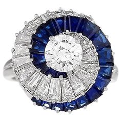 Cartier Century Diamond and Sapphire Swirl Ring - Cartier – Century Swirl Ring Diamond,blue Sapphire Platinum - Cartier Jewelry, Sapphire Jewelry, Diamond Jewelry, Diamond Rings, Vintage Rings, Vintage Jewelry, Engagement Ring Buying Guide, Baubles And Beads, Art Nouveau Jewelry